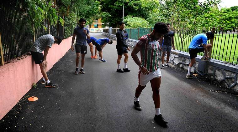 indianexpress.com - AMIT CHAKRAVARTY - Soccer in the hood: Players from the National team train during pandemic