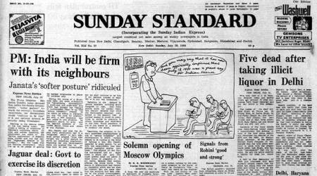 Indira Gandhi on bomb, Janata government, national interest, forty years ago, Indian express news
