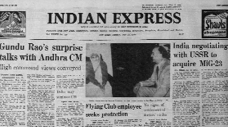 forty years ago, forty years ago Indian Express, Indian Express forty years ago, Express Editorial, Indian Express