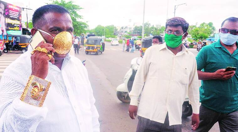 Pune: Man wearing gold mask goes viral on social media | Cities ...