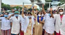 Contract nurses at Gandhi hospital go on strike