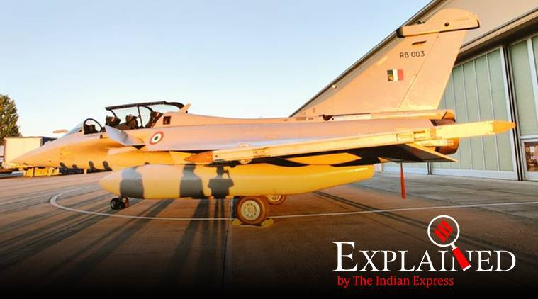Rafale, Rafale aircraft, Rafale aircraft leave for India, air force station ambala, Merignac airbase, dassault, Golden Arrows' squadron, rajnath singh, rafale jet deal, indian express, express explained