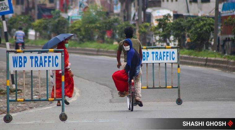 Deserted roads, quiet flyovers mark this week's first day of lockdown in Kolkata