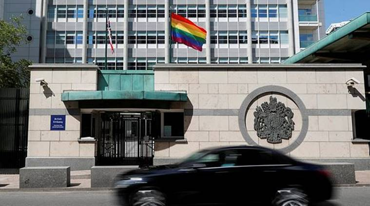 LGBT flag in US embassy, LGBT flag US embassy moscow, putin on LGBT flag in US embassy, putin lgbt flag, US Russia ties