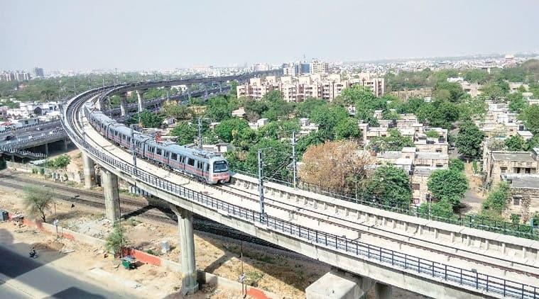 ahmedabad metro, ahmedabad metro phase 1 construction, ahmedabad metro phase one making cost, ahmedabad metro phas one making cost jump, indian express news