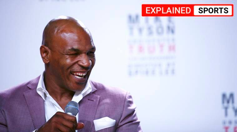mike tyson, mike tyson fight, mike tyson vs Roy Jones Jr, iron mike, mike tyson exhibition fight, indian express