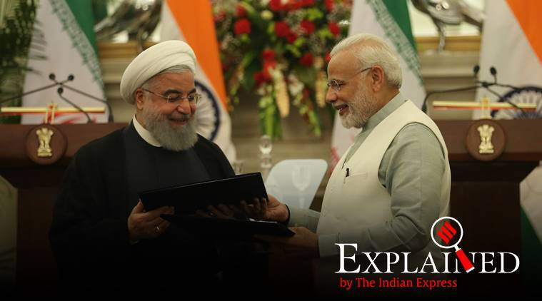 china iran, china investment in iran, India chabahar rail project, iran china chabahar project, india iran chabahar project, China Belt and Road Initiative, us iran sanctions, indian express explained,