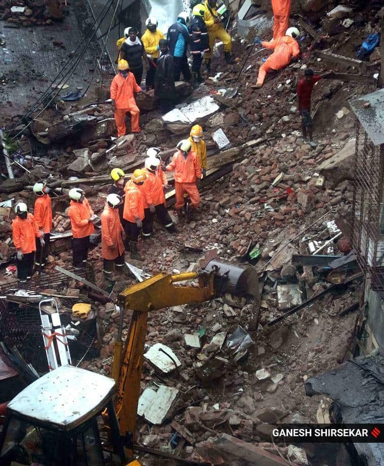 Mumbai building collapse, Bhanushali collapse, Bhanushali building collapse Mumbai, Mumbai Bhanushali building collapse, Mumbai news, city news, Indian Express