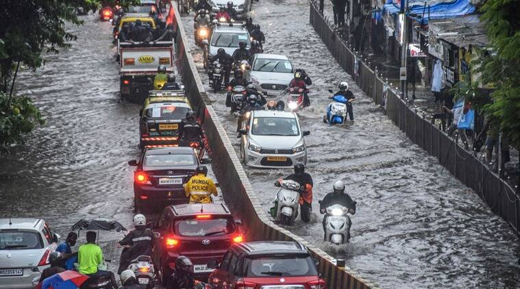 mumbai rains, maharashtra rains, thane rains, belapur rains, mumbai rainfall, north india rains, mumbai monsoon, mumbai monsoon rains, indian express