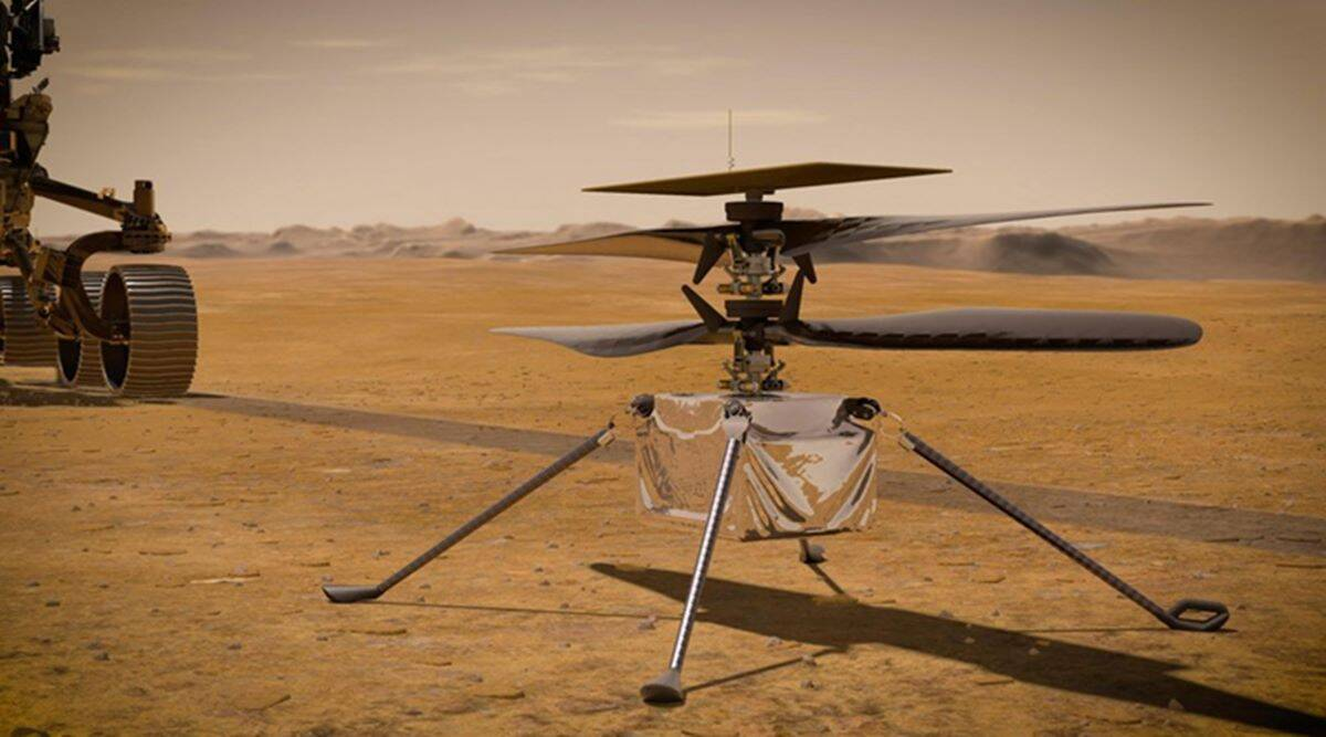 Ingenuity helicopter, strapped to NASA's Perseverance Mars rover, sends first status report thumbnail