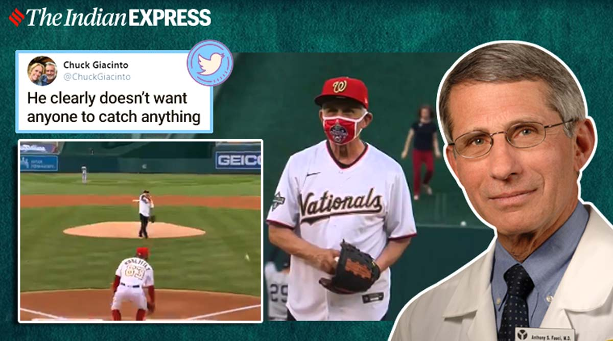 How People Reacted To Dr Anthony Fauci Throwing First Pitch Of The 2020 Baseball Season Trending News The Indian Express