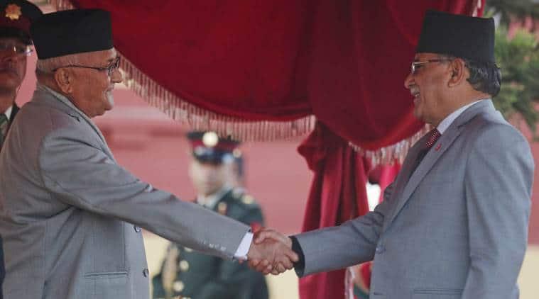 Nepal political crisis, K P Oli, Pushpa Kamal Dahal 'Prachanda', nepal prime minister, nepal communist party, nepal communist party split, indian express