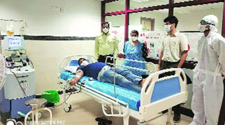 Haryana plasma donation bank, Haryana first plasma donation bank, ESIC hospital, ESIC hospital plasma donation bank, Delhi news, city news, Indian Express