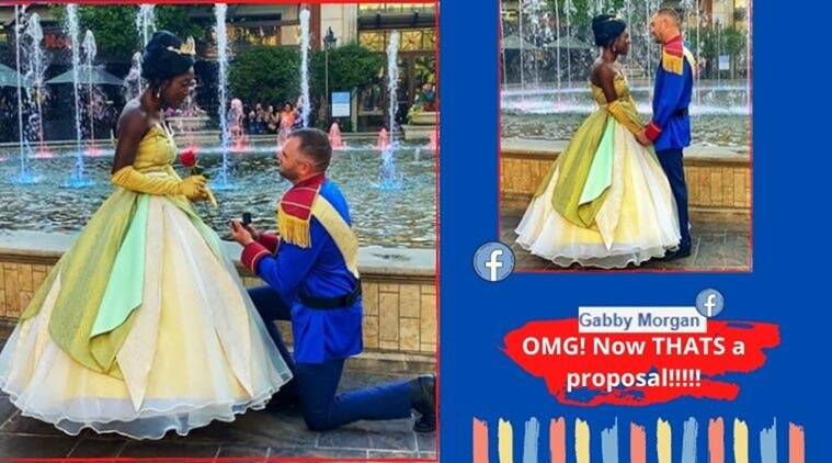 Marriage proposal, Princess and the frog, Princess and the frog marriage proposal, Princess and the frog theme proposal, Princess and the fro theme, proposal, Trending news, Indian Express news