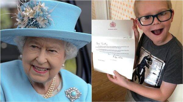 queen elizabeth II, queen covid 19 isolation, boy sends wordsearch to queen, boy happiness puzzle for Queen, queen thank you letter boy puzzle, good news, viral news, indian express