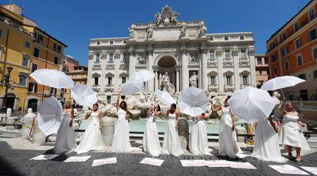 italy coronavirus, coronavirus italy restrictions, italy wedding coronavirus, brides to be protest covid 19 wedding cancel, italian wedding association protest, odd news, indian express