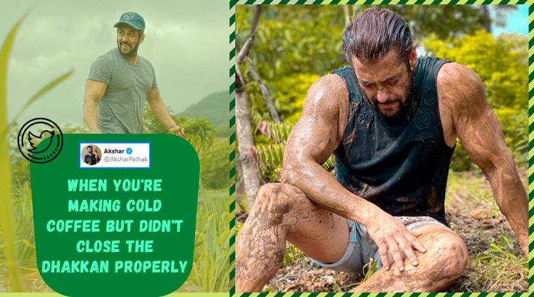 salman khan, salman khan panvel farm, salman khan memes, salman khan mud photo, salman khan mud respect to farmer, salman mud photo memes, viral news, entertainment news, indian express