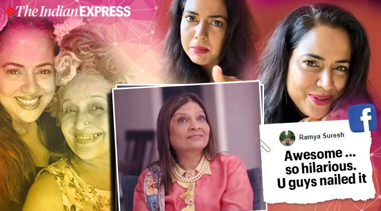 indian matchmatching, indian matchmaking netflix, indian matchmatching spoof video, sameera reddy mother in law indian matchmaking, Sima Taparia indian matchmaking spoof, viral news, funny news, indian express