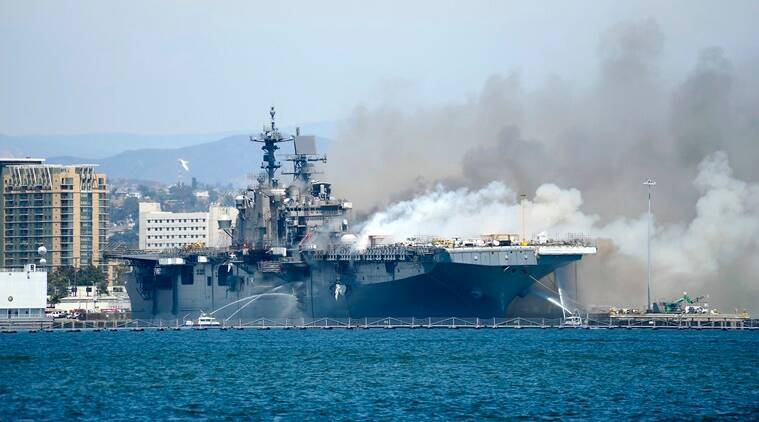 21 injured in fire aboard ship at Naval Base