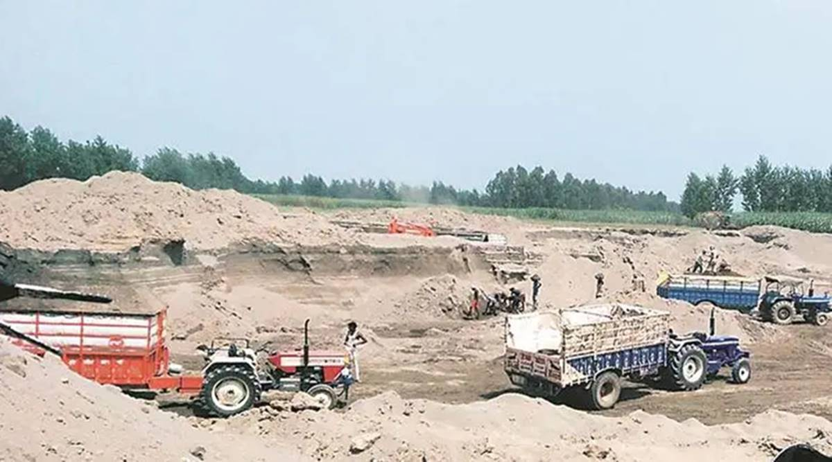 illegal sand mining, Villagers protest, Mohali news, Punjab news, Indian express news