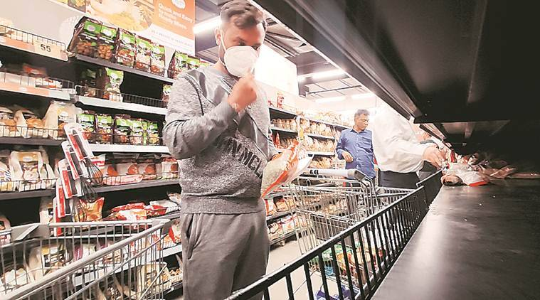 Coronavirus, Coronavirus impact, Coronavirus impact on retail sector, Coronavirus lockdown, what people purchased during lockdown, bread, cheese, coffee, jams, Coronavirus sanitisers, Coronavirus handwashes, Indian express