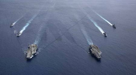 south china sea, China news, US military news, U.S. aircraft carrier, USS Theodore Roosevelt, joe biden, Taiwan news, china us relations, taiwan china relations, world news, indian express world news