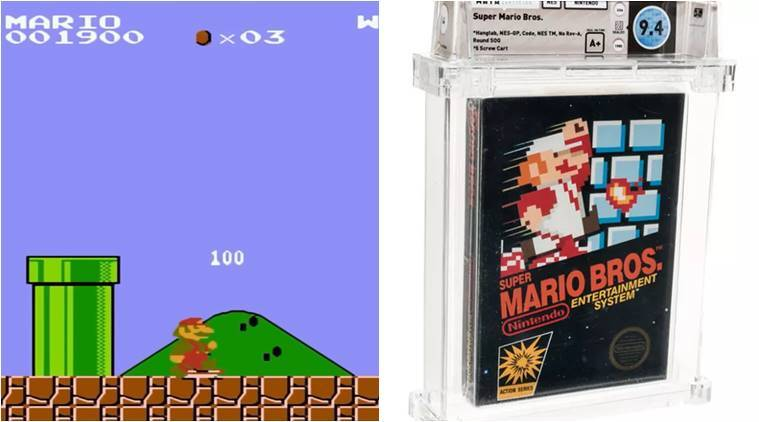 Super Mario Bros, Super Mario Bros 1985, Super Mario Bros mint copy, super mario bros most expensive bid, super mario bros 114000 dollars, most expensive vintage game