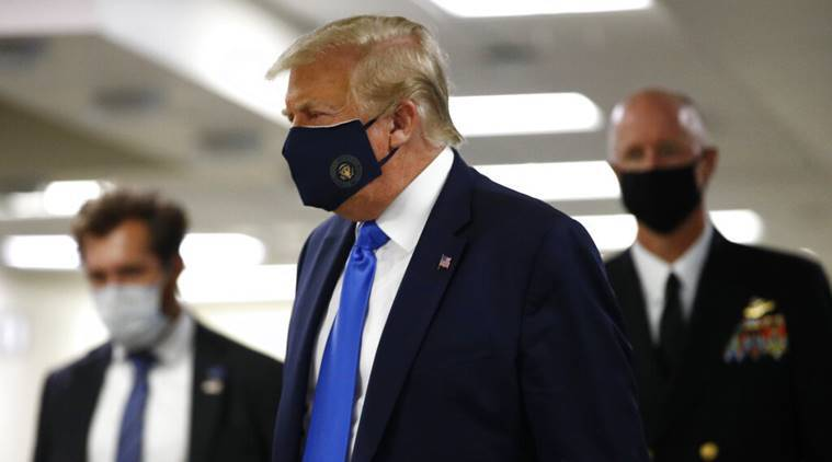 donald trump mask, trump wears mask for first time, donald trump coronavirus, US coronavirus, donald trump news