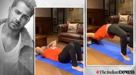 Varun Dhawan yoga