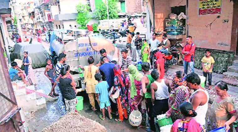 Social distancing, Mauli complex area, Chandigarh news, Punjab news, Indian express news
