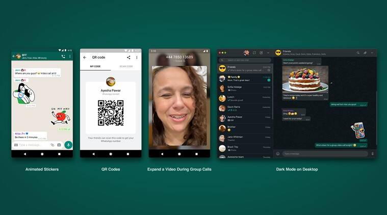 whatsapp animated stickers, whatsapp dark mode web, QR Codes