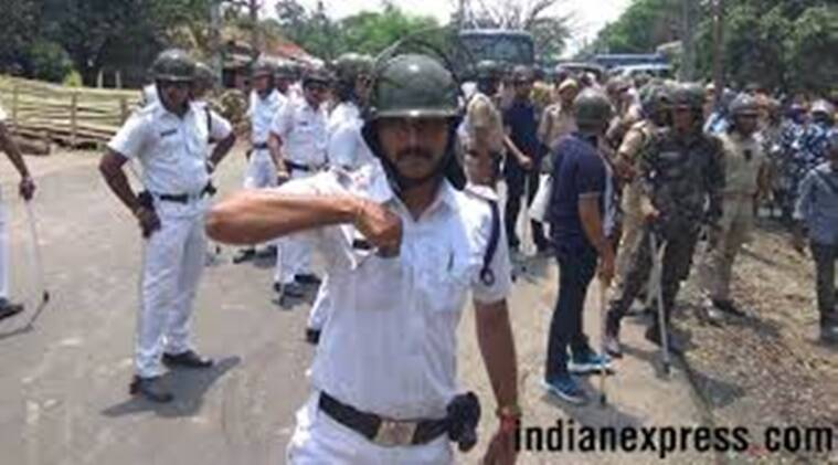 west bengal police, west bengal police clash, west benal villagers clash with police, indian express news