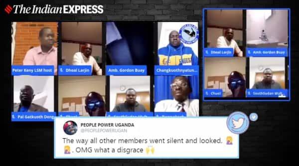 South Sudan Diplomat, Gordon Buay, Urinating, Zoom meeting, Facebook panel discussion, Gordon Buay zoom meeting, Gordon Buay panel discussion, Trending news, Indian Express news