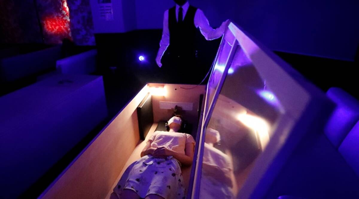 Tokyo, Scare squad, Stress relief, Coffin, Zombies, Trending news, Indian Express news