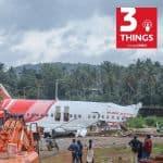 Crash site of Air India Express flight IX-1344