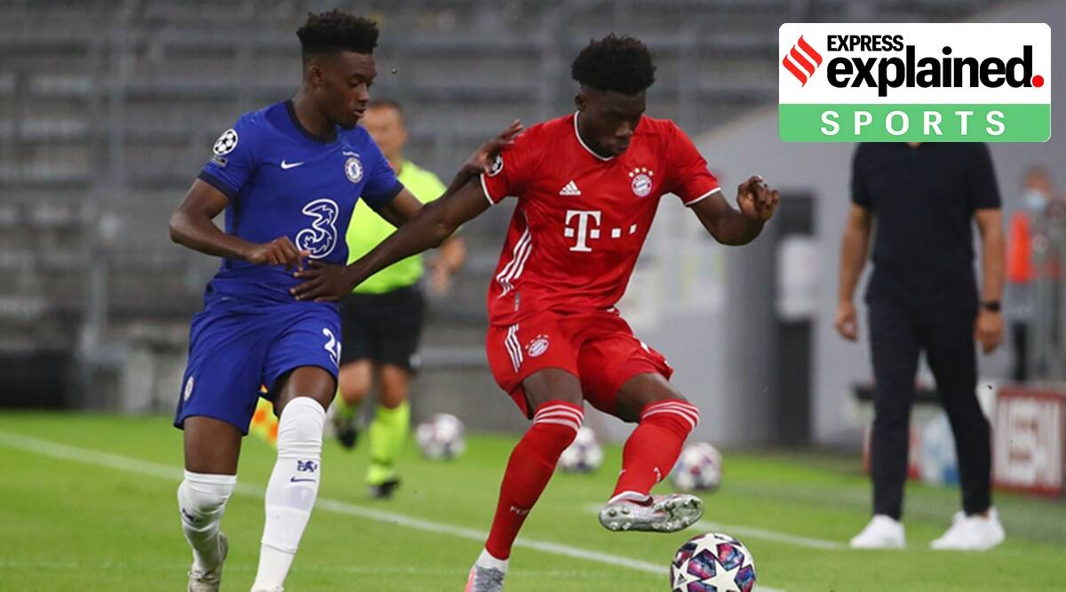 Alphonso Davies, who is Alphonso Davies, Lionel Messi, Barcelona vs Bayern Munich, Barcelona vs Bayern Munich time, Barcelona vs Bayern Munich match, Barcelona vs Bayern Munich live stream, Indian Express