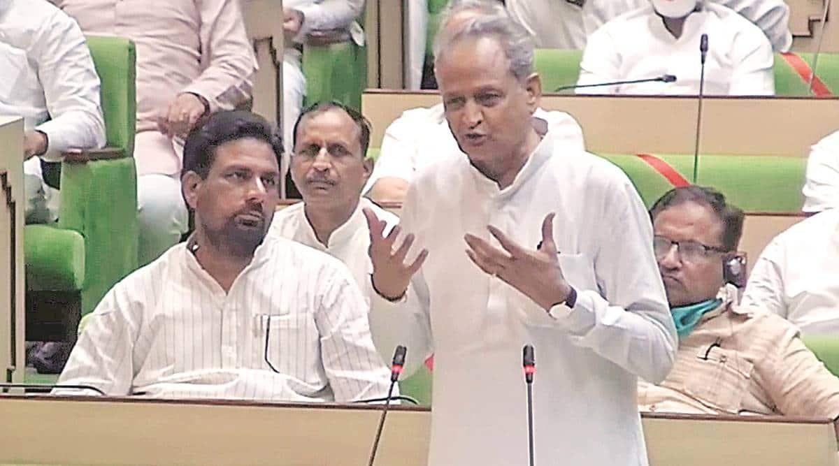 Ashok Gehlot, Rajasthan government, confidence motion, trust vote, Rajasthan news, Indian express news
