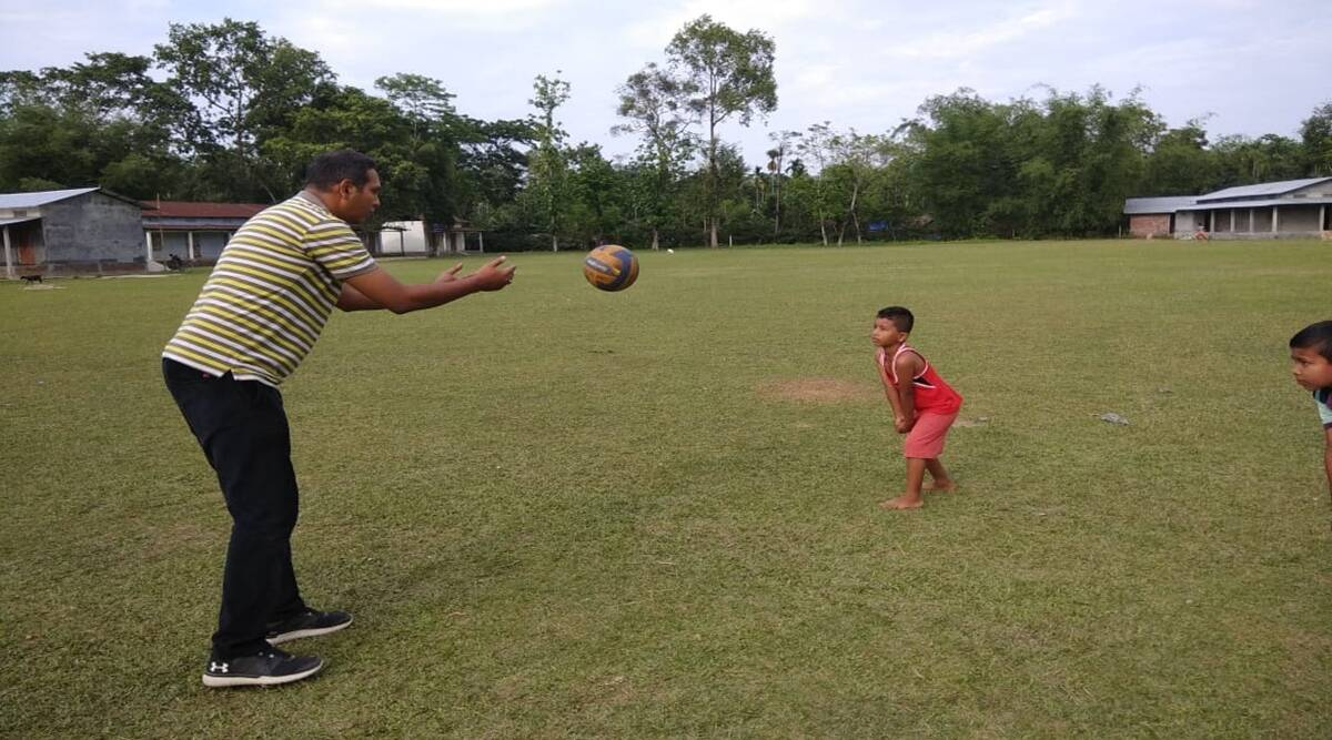 Abhijeet Bhattacharya's Virtual Volleyball Academy is teaching kids in Assam's villages the basics of the sport — one chaotic Zoom meeting at a time