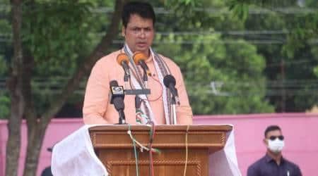 Tripura news, tripura congress strike, BJP congress tripura clash, congress protest, biplab kumar deb, indian express, tripura news