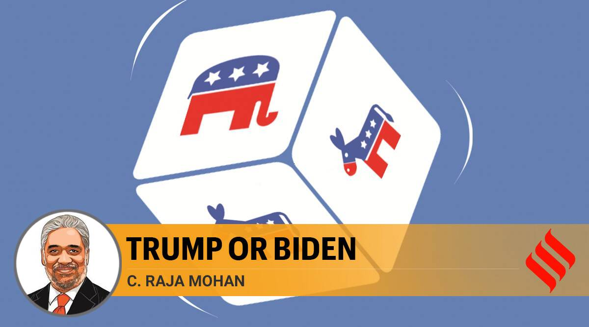 US presidential elections, US elections, Donald trump US elections, joe biden, trump biden, trump china, C Raja Mohan writes, Indian express opinion