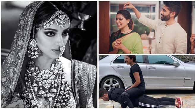 Celebrity social media photos, Miheeka Bajaj, Samantha Akkineni, Priyanka Chopra