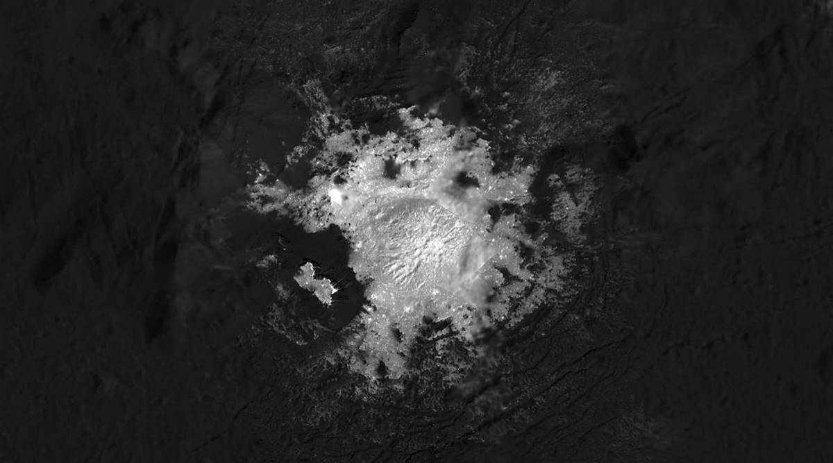Ceres, Ceres asteroid belt, ceres salty water, ceres subsurface water, nasa dawn mission, water on planet, ceres crater, ceres crater water