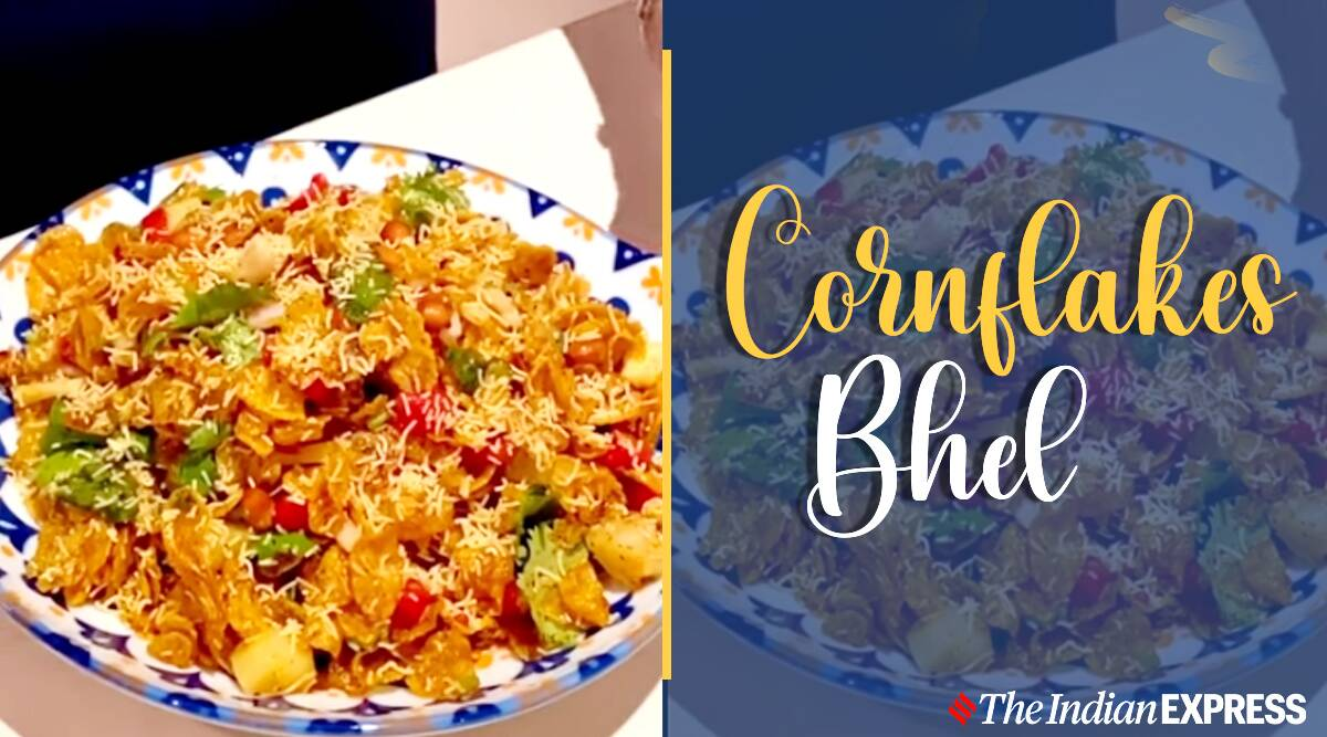 cornflakes bhel, evening snacks, how to make bhel, easy recipes, indianexpress.com, indianexpress, leftover recipes,