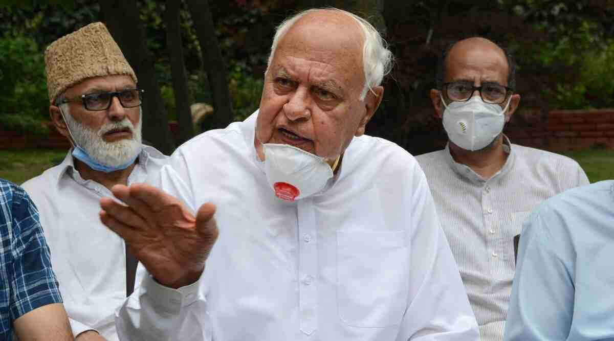 Farooq Abdullah, Farooq Abdullah Delhi visit, Farooq Abdullah Parliament, Parliament Monsoon Session, India news, Indian Express