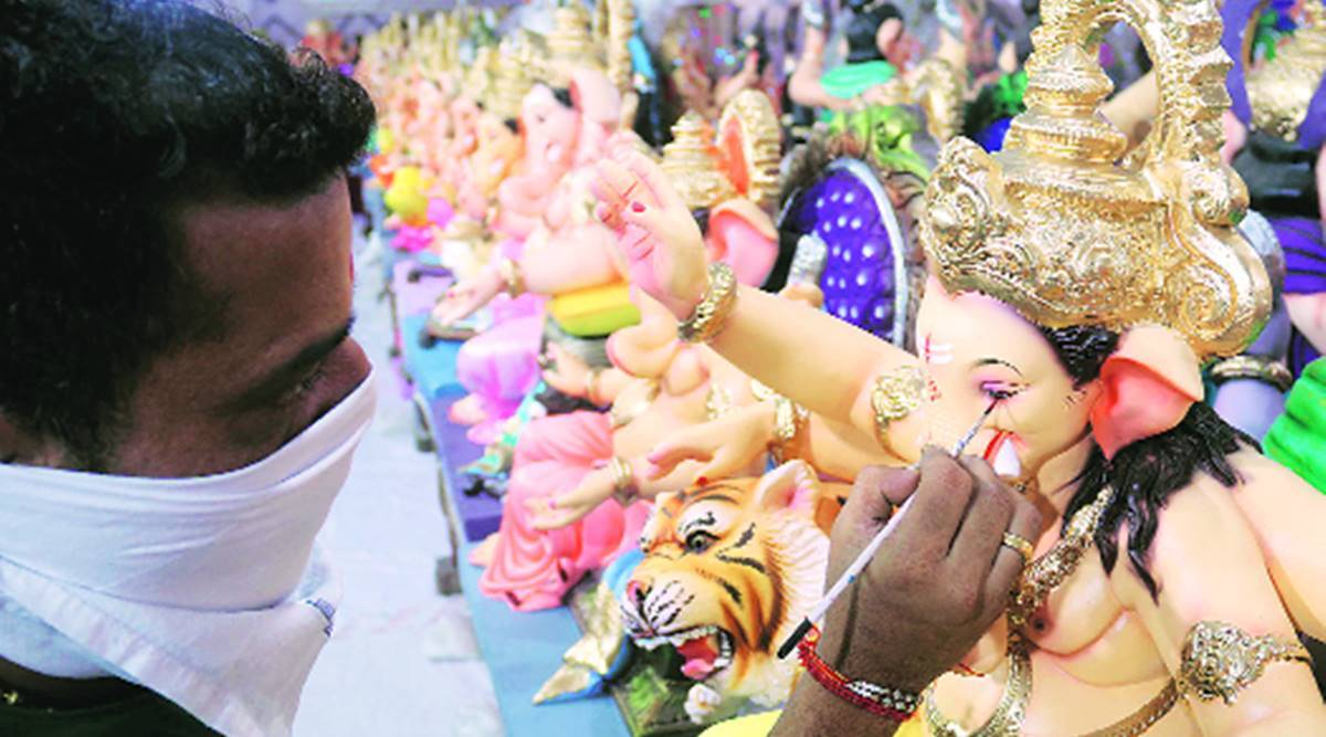 Ganesh Chaturthi, BMC, idol collection points, idol immerson, natural ponds, Mumbai news, Indian express news