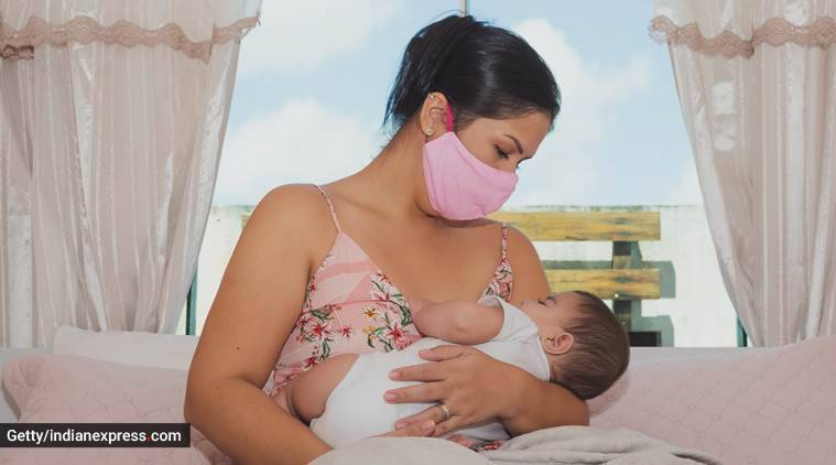 World Breastfeeding Week, Breastfeeding safe, covid pandemic, Coronavirus crisis, Indian express news