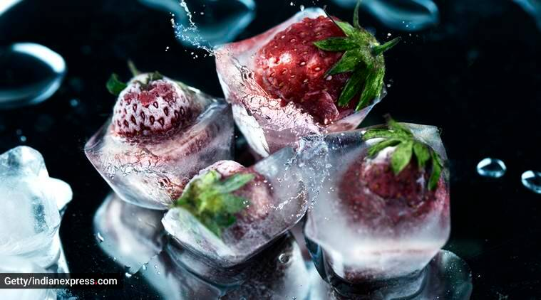 strawberries for skincare, strawberries and honey for skincare, strawberry ice cubes for face, skincare, indian express, indian express news