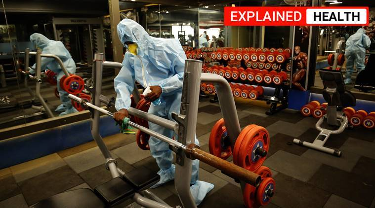 gyms in lockdown, COVID-19 pandemic, express explained, lockdown fitness, working out amid pandemic, contain COVID-19 in gymnasiums and yoga institutes, yoga institutes to reopen, explained news, indian express