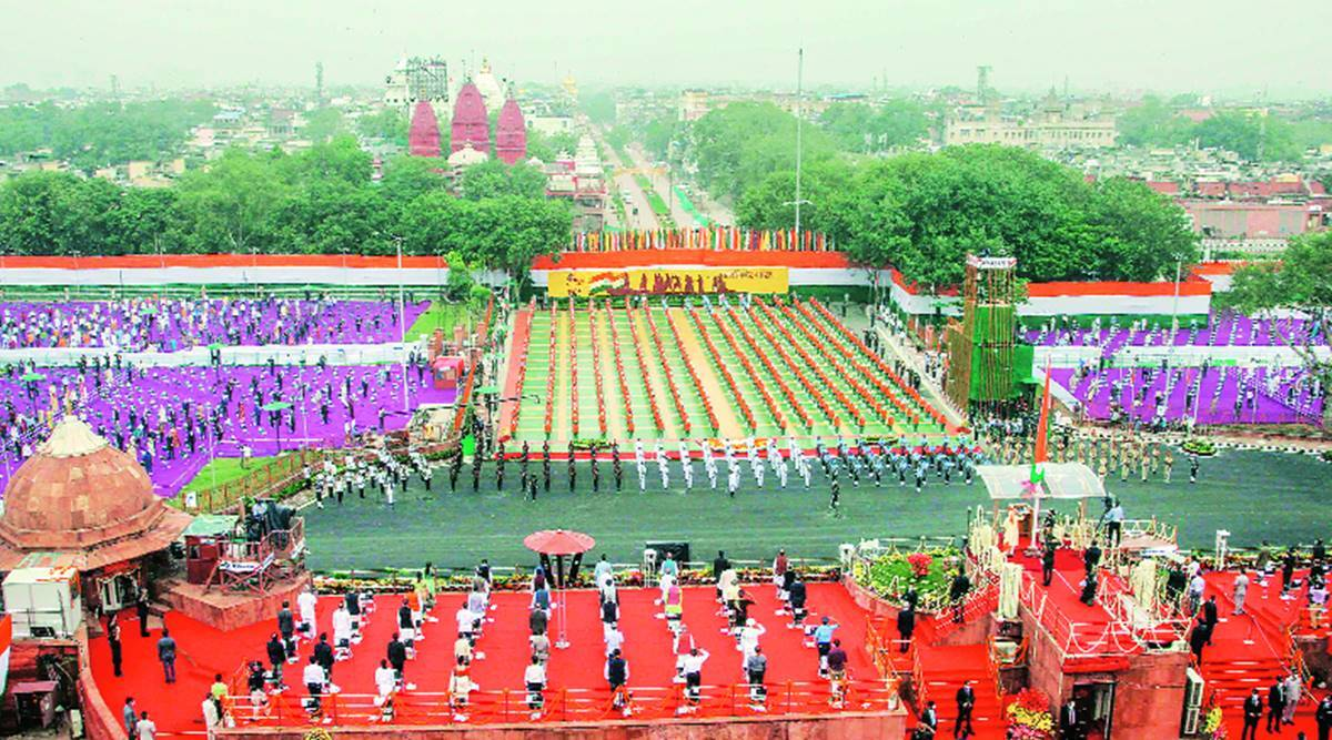 Independence Day, independence day red fort, independence day 2020, Narendra modi, Red Fort, Delhi city news, Indian express news