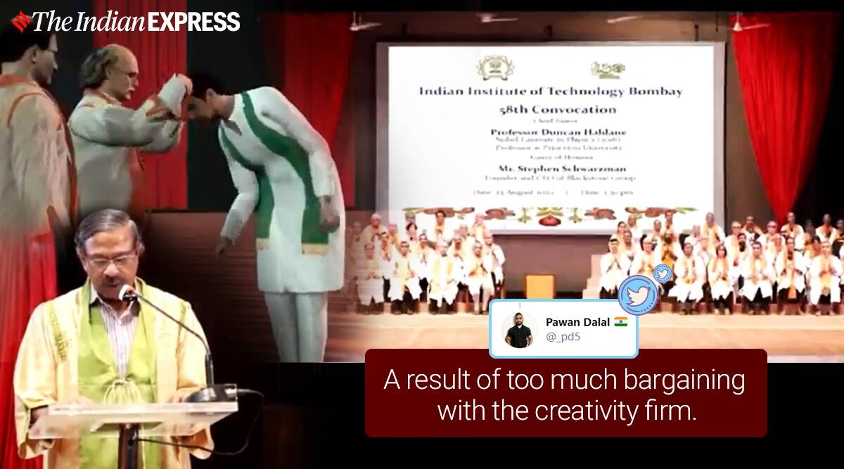 IIT Bombay, convocation IIT Bombay virtual convocation, 3D convocation, AR convocation, IIT Bombay annual convocation, Indian Institute of Technology, Bombay, virtual convocation, 58th annual convocation IIT Bombay, Bombay, Trending news, Viral video, Indian Express news.